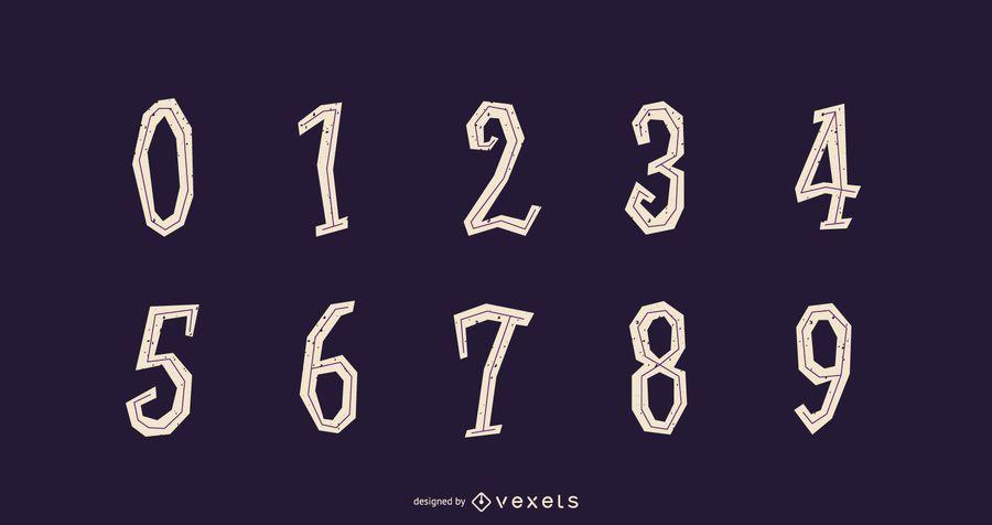 Halloween Number Set