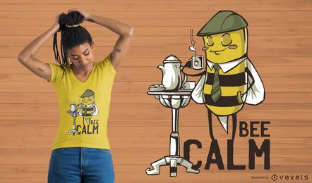 Diseño de camiseta Bee Calm