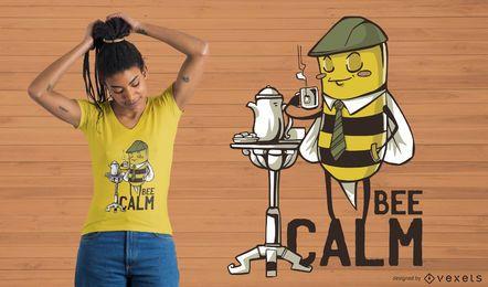 Projeto calmo do t-shirt da abelha