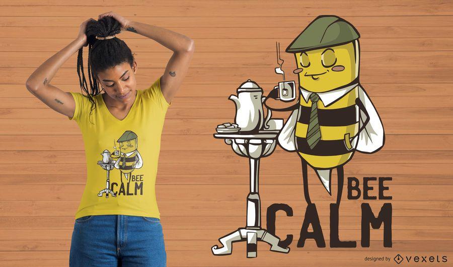 Bienen-ruhiger T-Shirt Entwurf