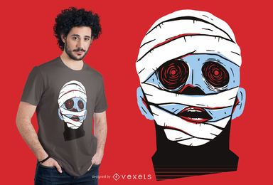 Mummy Face T-shirt Design