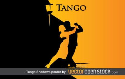 Pôster de sombras e silhuetas de tango