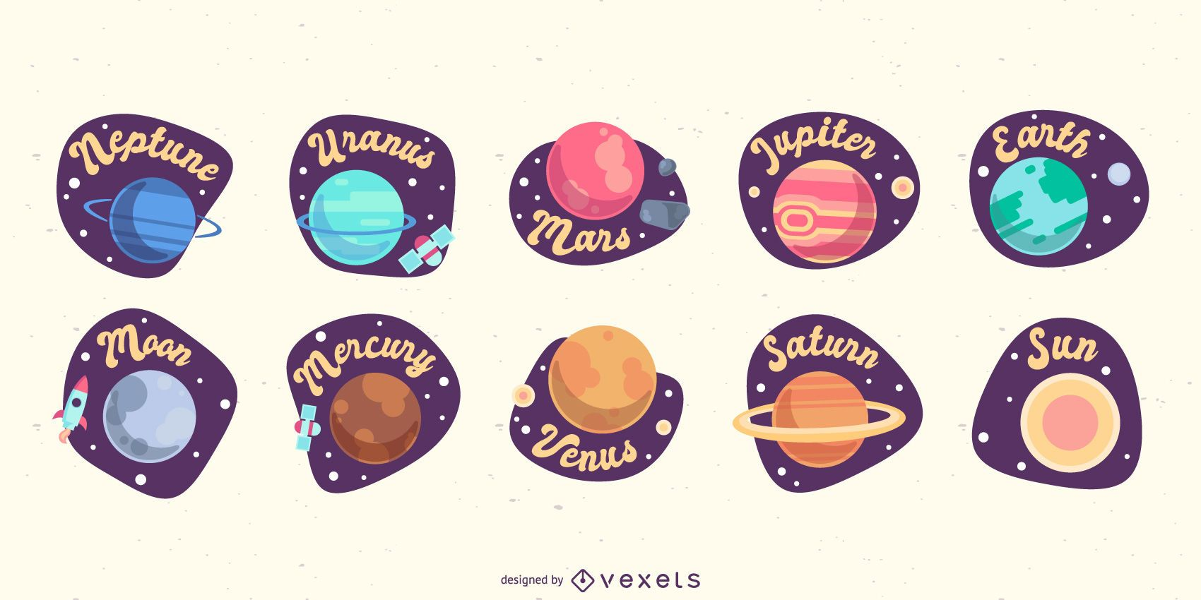 Flat planets collection