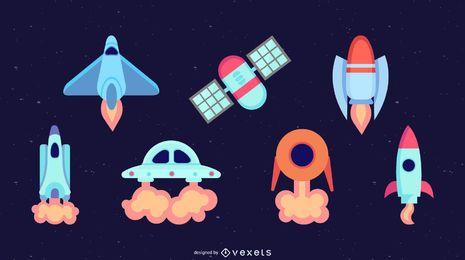 Elementos do espaço plana set