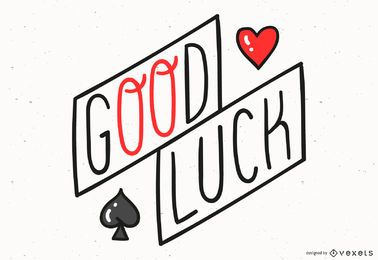 Design de letras de boa sorte