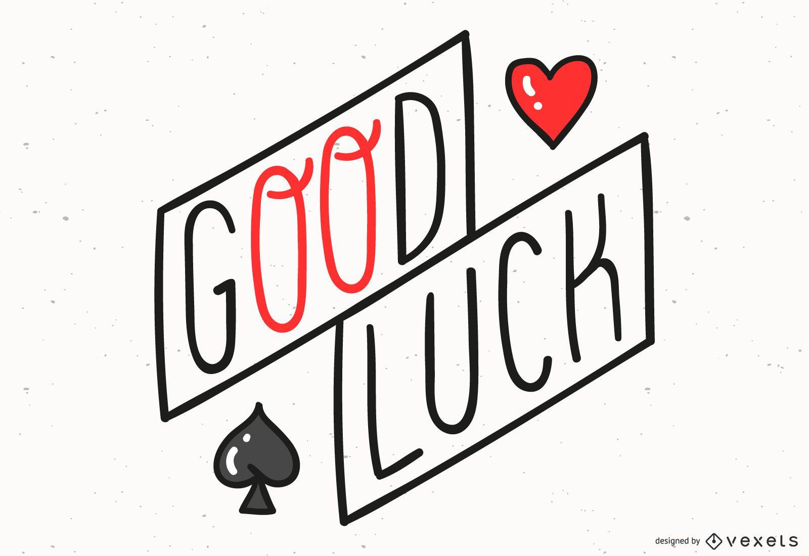 Diseño de letras de buena suerte