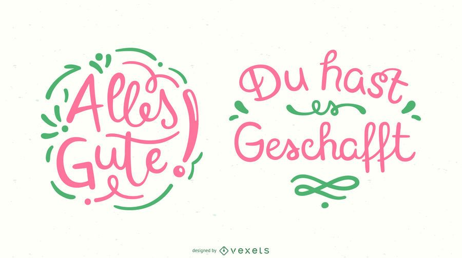 Good Luck German Lettering Banner Set