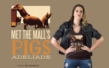Rundle Mall Pigs T-shirt Design