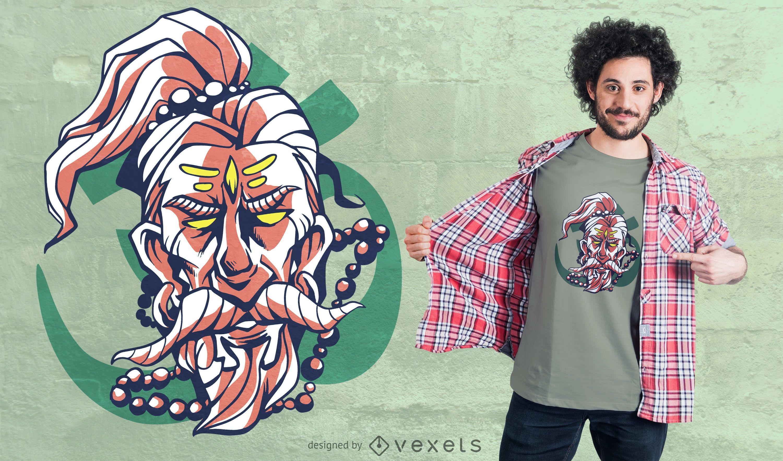 Bearded Holy Man T-shirt Design