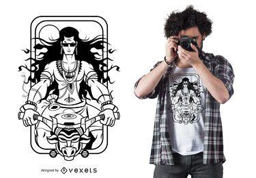 Wilder Radfahrer-T-Shirt Entwurf