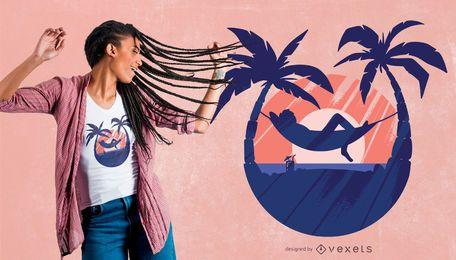 Diseño de camiseta Sunset Relax