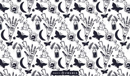 Witchery Vector Pattern
