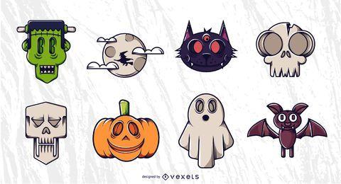 Conjunto de vectores de personajes de Halloween