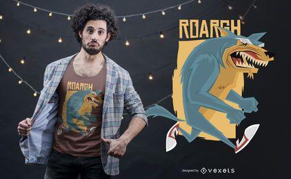 Diseño de camiseta Wolfman