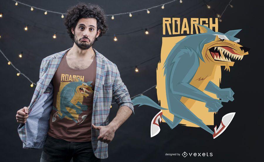 Projeto do t-shirt de Wolfman