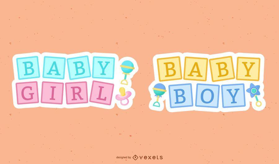 Novo bebê fofo conjunto de letras