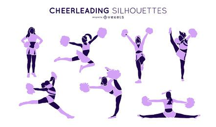 Cheerleading Silhouette Set
