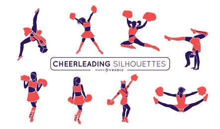 Cheerleading Pink Silhouette Set