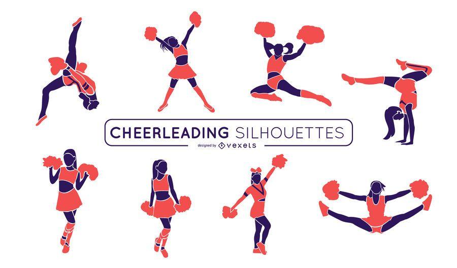 Cheerleading Pink Silhouette Set