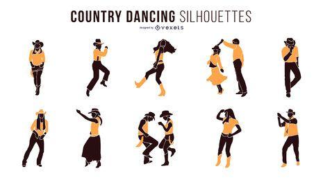 Silhuetas de dança country