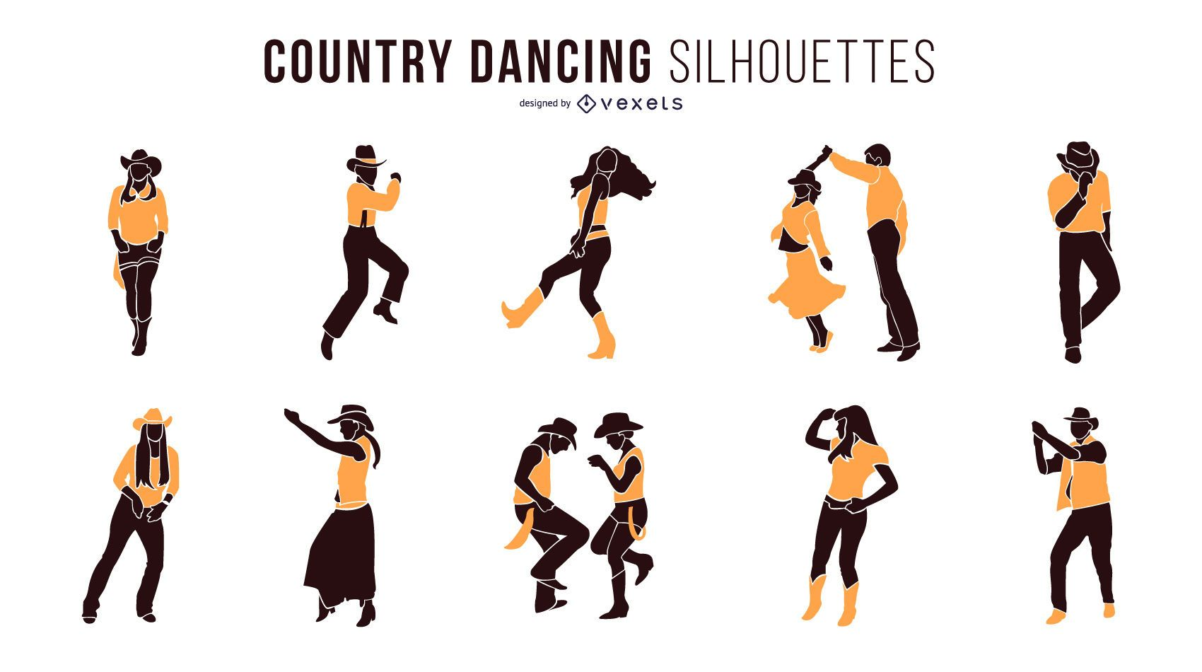Country Dancing Silhouettes
