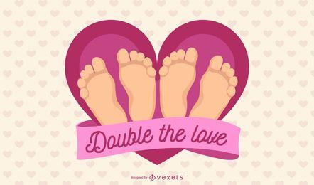 Dobrar a ilustração do amor