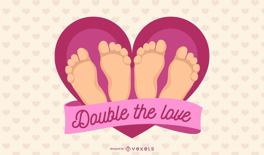 Double the love illustration