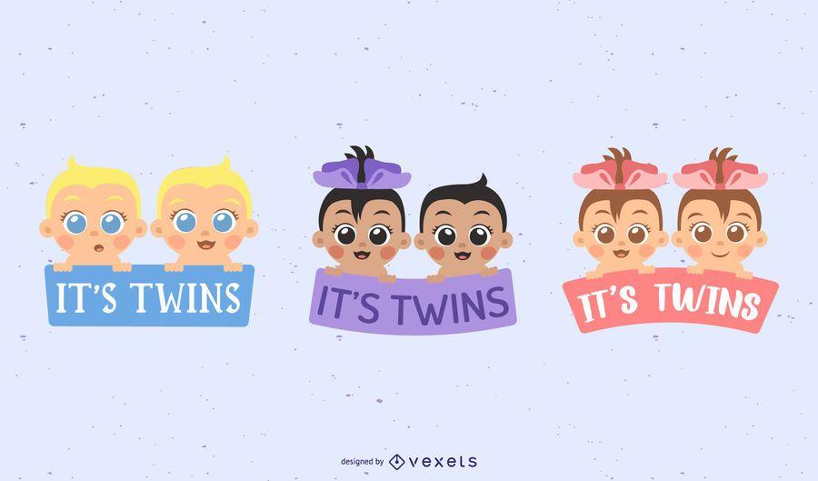 Es diseño de letras gemelas