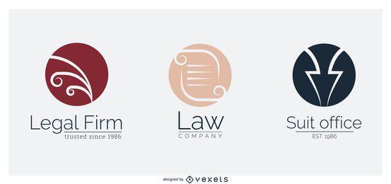 Vectores de plantilla de logotipo de bufete de abogados