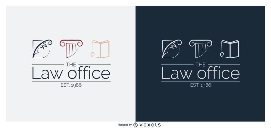 Modelo de logotipo do escritório de direito jurídico