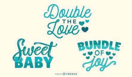 Letterings bonitos do bebê novo