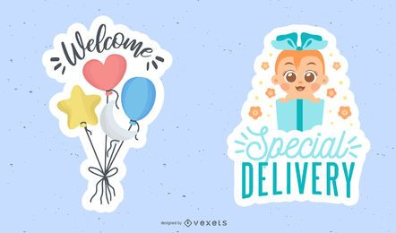 New baby sticker set