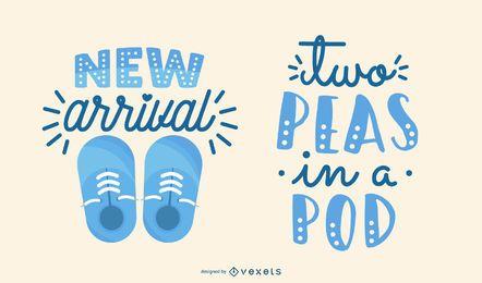 Neugeborenen-Schriftzug-Set