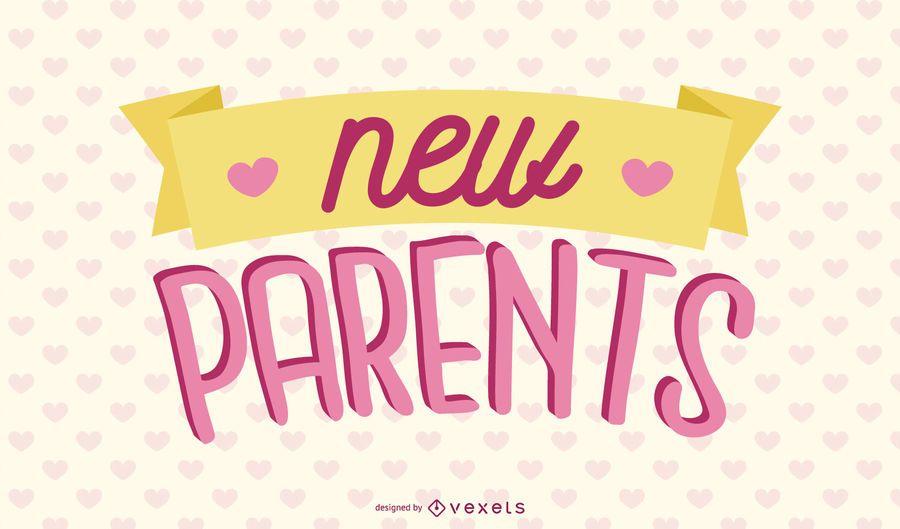 Nuevo diseño de letras rosadas para padres