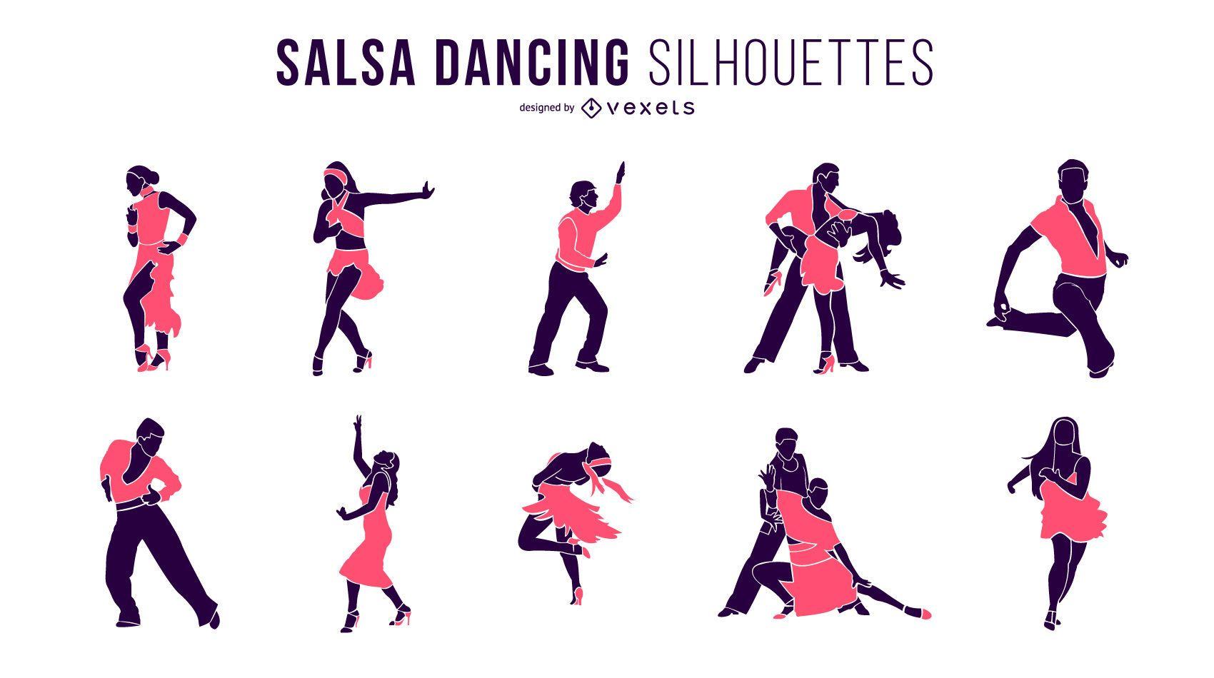 Salsa Dancing Silhouettes