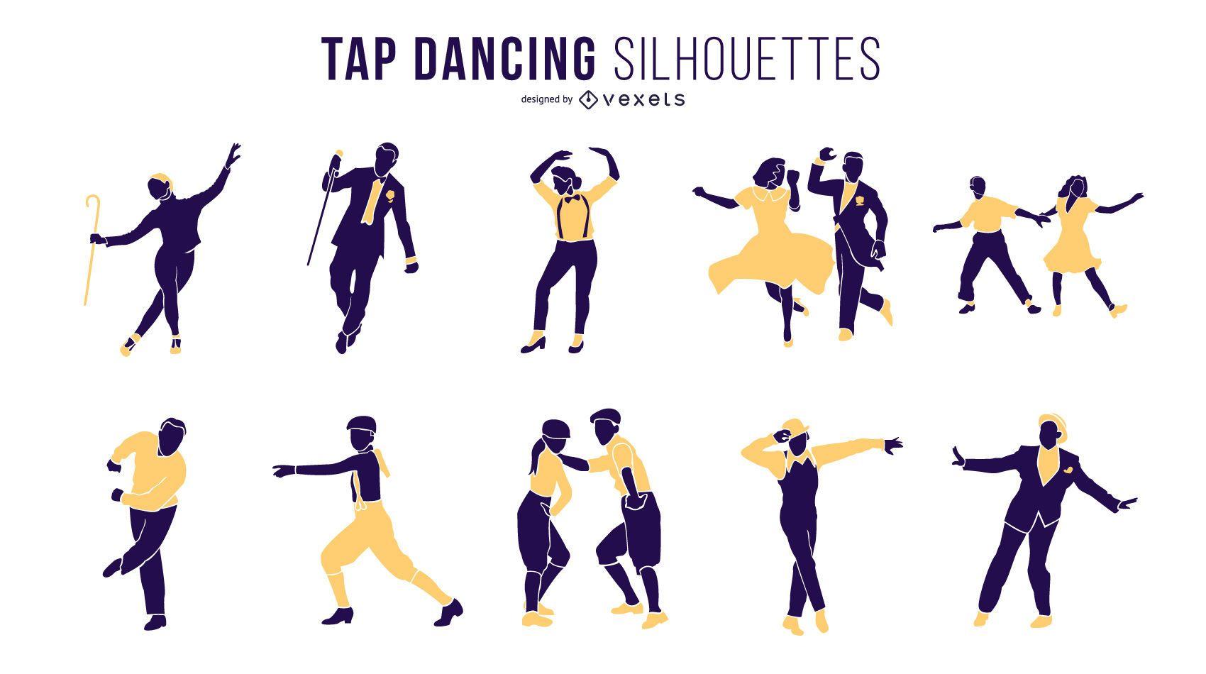 Tap Dancing Silhouette Set