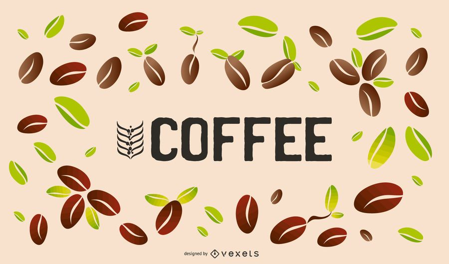 Coffee Beans Background Design