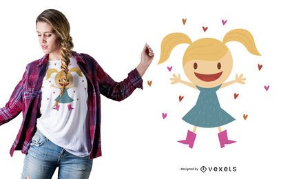 Diseño de camiseta de niña pequeña