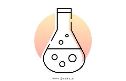 Vetor do logotipo do frasco de química