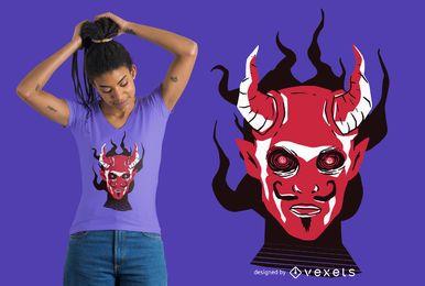 Diseño de camiseta de cara de diablo