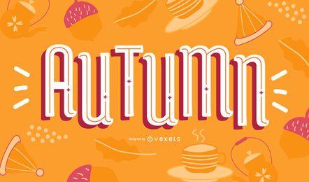 Diseño de letras de otoño