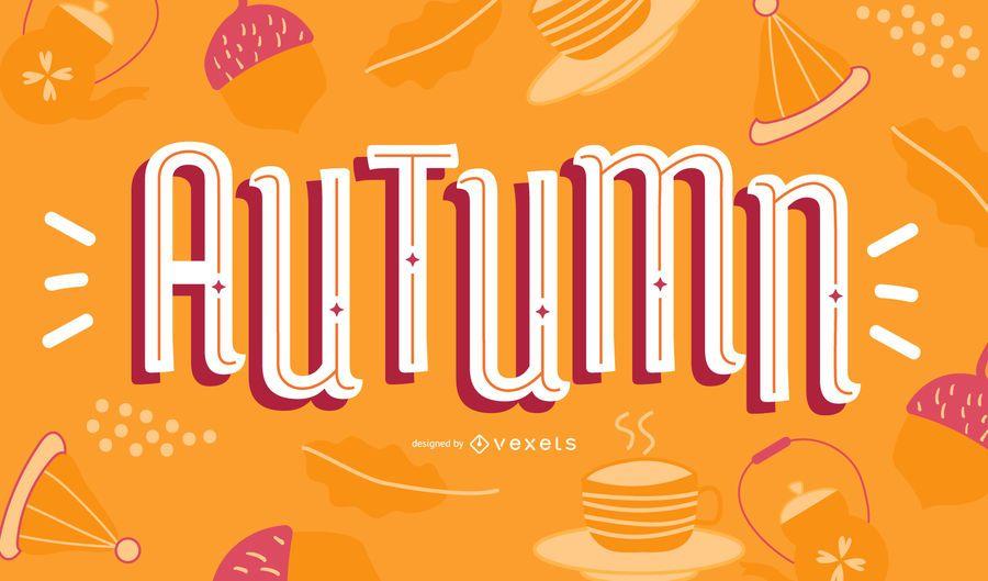Autumn lettering design