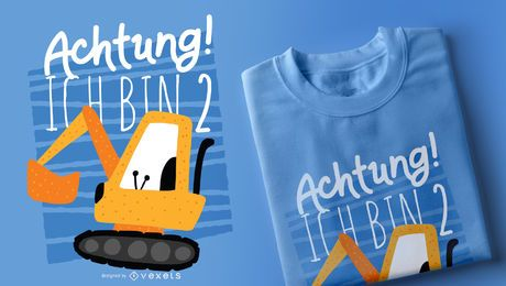 Niedlicher Bau-T-Shirt Entwurf