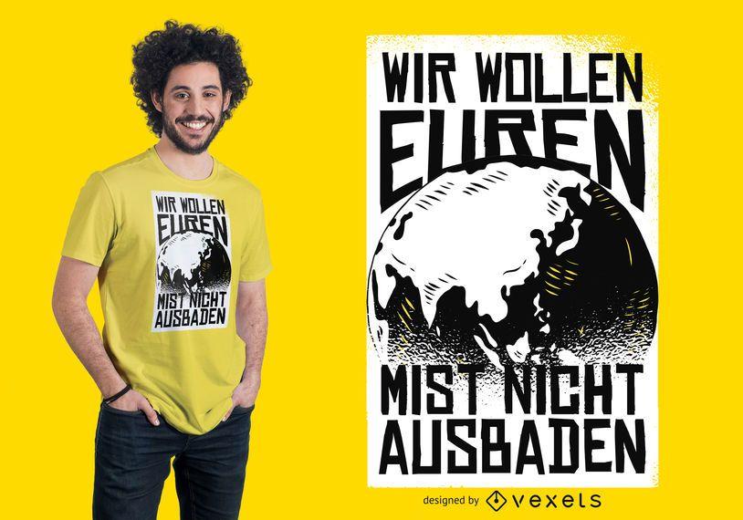 Projeto do t-shirt do ambiente do mundo