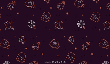 Halloween line pattern design