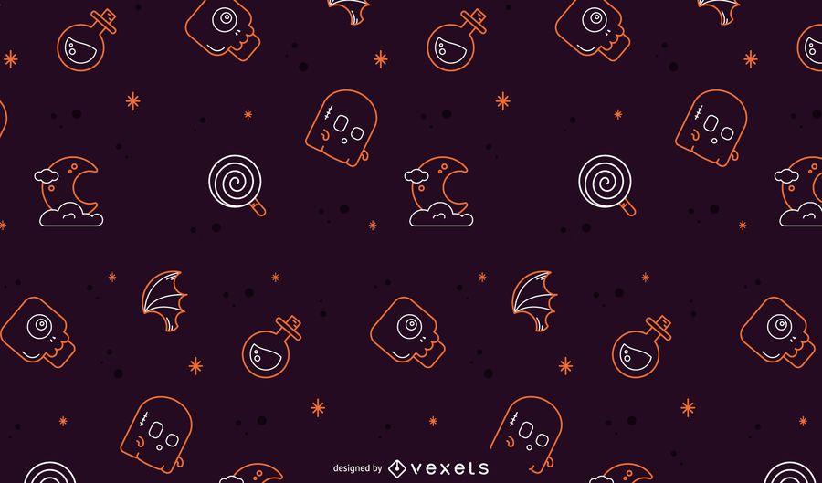 Halloween-Linie Musterdesign