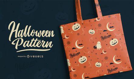 Patrón de elementos de Halloween