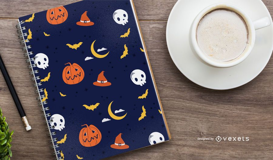 Halloween-Nachtmusterentwurf