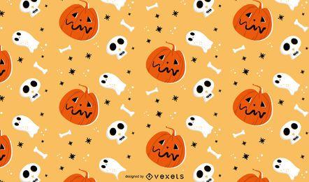 Diseño de patrón de halloween espeluznante
