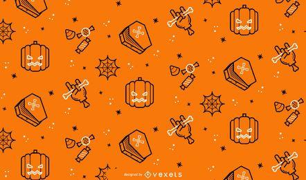Design de padrão de traçado de Halloween